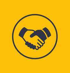 handshake partnership deal icon vector image vector image