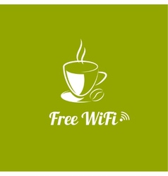 Internet cafes Wireless free connection vector image vector image