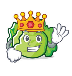 King lettuce character mascot style vector