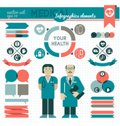 medical infographic element set vector image vector image