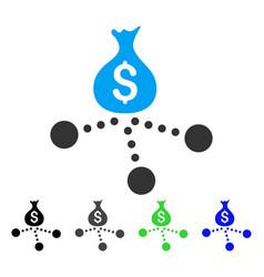 money distribution flat icon vector image