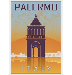 Palermo vintage poster vector image