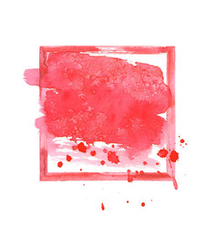 red watercolor grunge frame vector image