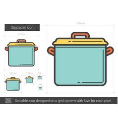 Saucepan line icon vector