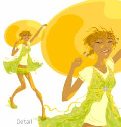 Sunny day sunny girl vector