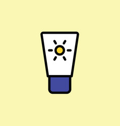 sunscreen icon thin line on color background vector image vector image