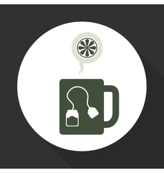 Tea time icon drink concept flat illiustration vector