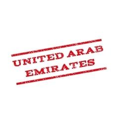 United Arab Emirates Watermark Stamp vector image
