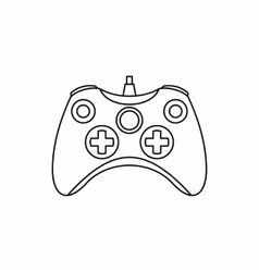 Joystick game controller icon outline style vector