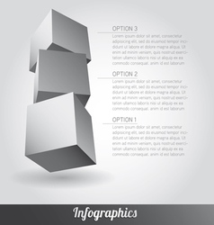 Cube infographics vector