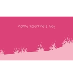 Happy valentine day with grass backrgounds vector