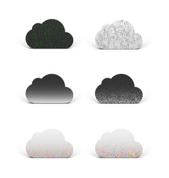 Cloud app icons set for technology company vector