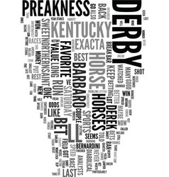 You ve got to bet the preakness text word cloud vector