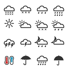Weather icons4 vector image
