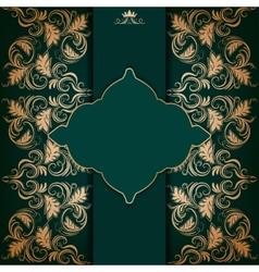 Elegant frame with filigree ornament vector image