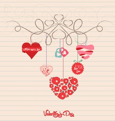 Hand draw doodle valentines ornament vector