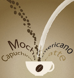 Coffee mix vector