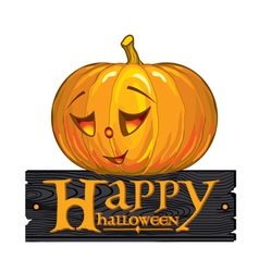 Inscription congratulation with happy halloween vector