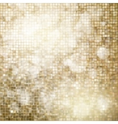 Golden mosaic background eps 10 vector