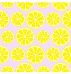 Seamless fruits pattern with lemons vector