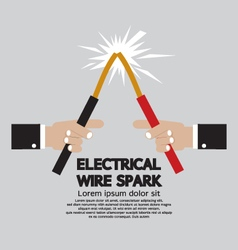 Electrical wire spark vector