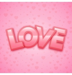 Love word on heart background vector