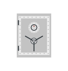 Security safe flat vector