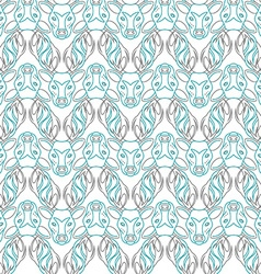 Pattern background with the deer seamless vector