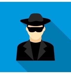 Detective icon flat style vector