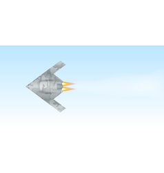 Military drone flying over sky background vector