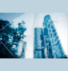 Abstract blur background of business skyscraper vector