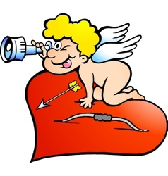 an Angel boy looking for love vector image vector image