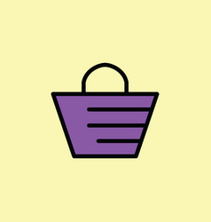 beach bag icon thin line on color background vector image