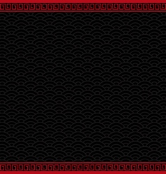Black chinese background with red border vector