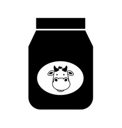 Black jar of milk graphic design vector