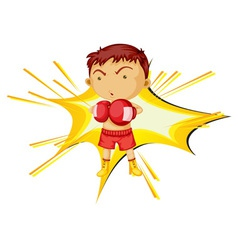 Boxing boy vector image vector image