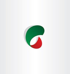 C letter c gradient red and green icon logo vector