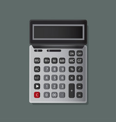 calculator icon design vector image