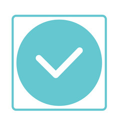 Check mark icon tick symbol in blue color yes vector