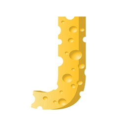 Cheese letter j vector