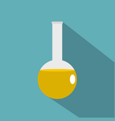 Chemical laboratory flask icon flat style vector