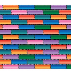 colorful brick wall vector image vector image