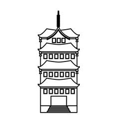 Culture japanese tower building vector