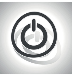 Curved power sign icon vector