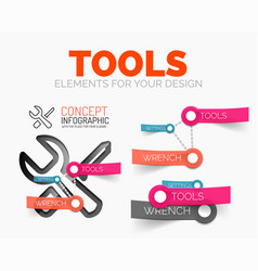 diagram elements set of tools concept icons vector image