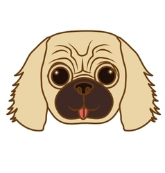 Dog face icon vector