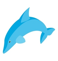 Dolphin isometric 3d icon vector image