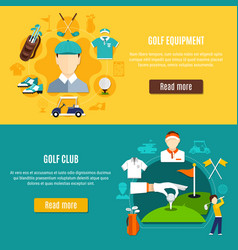 golf horizontal banners vector image