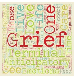 How to cope with anticipatory grief text vector