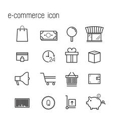 line icons e-commerce icons modern infographic vector image vector image